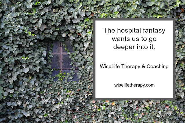 Santa Rosa therapist & life coach Patty Bechtold blogs about the hospital fantasy & other escape fantasies at wiselifetherapy.com