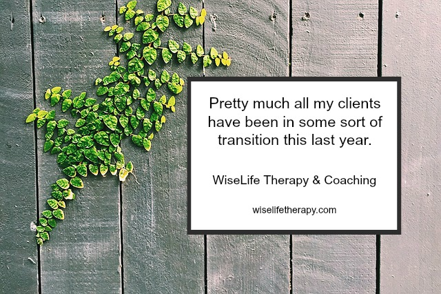 10 clues you're in a life transition from Therapist and Life Coach Patty Bechtold at wiselifetherapy.com, Santa Rosa CA