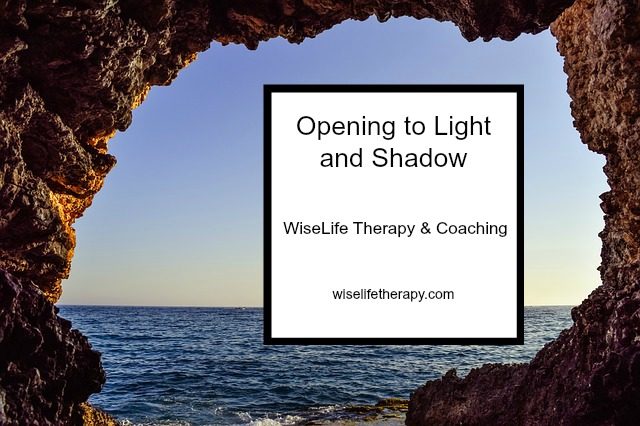Santa Rosa Life Coach Patty Bechtold writes about shadow work and opening to light and shadow, wiselifetherapy.com