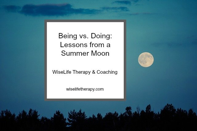 Patty Bechtold, Santa Rosa Counselor & Coach, blogs about being vs. doing at wiselifetherapy.com
