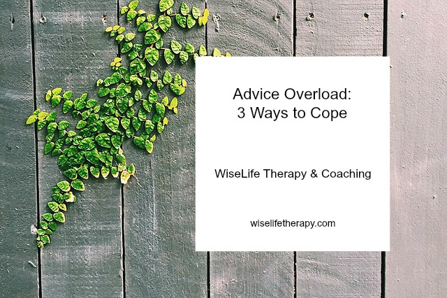 Santa Rosa therapist Patty Bechtold shares 3 ways to cope with advice overload at wiselifetherapy.com