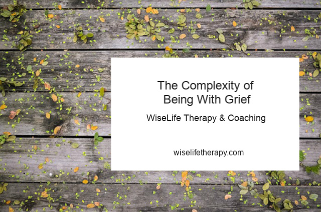 Santa Rosa therapist and life coach Patty Bechtold blogs about the complexity of being with grief at wiselifetherapy.com