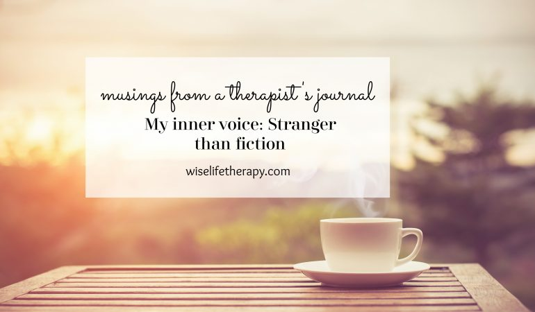 Santa Rosa therapist and life coach Patty Bechtold writes about how the film Stranger than Fiction unearthed her softer inner voice at wiselifetherapy.com