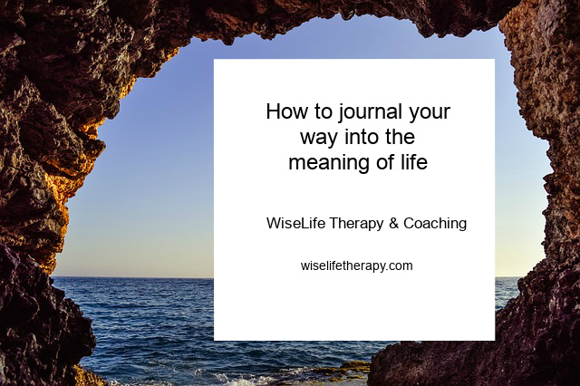 Northern California Life Coach + Therapist Patty Bechtold describes how to write to understand the meaning of life with Ira Progoff's stepping stones journaling activity, wiselifetherapy.com